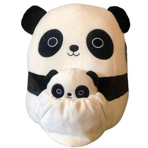 """Squishmallows Mom and Baby, Stanley, Mom 12"""" and Baby 5"""", NWT"""